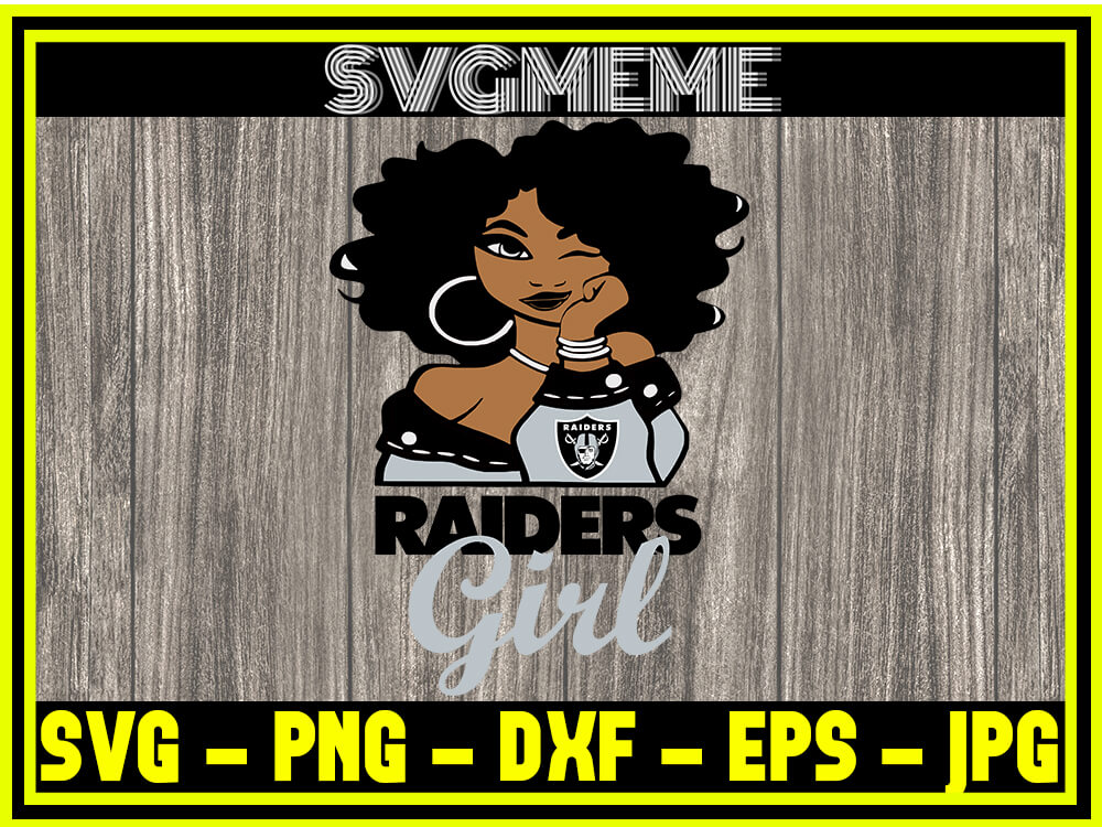 Nfl Raiders Girl Logo Svg Png Dxf Eps Jpg Clipart For Cricut Nfl Raiders Girl Logo Svg Digital Art Files For Cricut Svg Meme